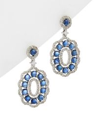 Diana M. Jewels - 14k 2.63 Ct. Tw. Diamond & Sapphire Earrings - Lyst