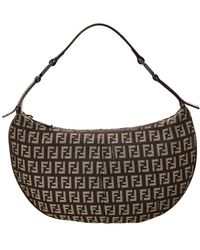 Fendi - Brown Zucca Canvas Small Hobo Bag - Lyst