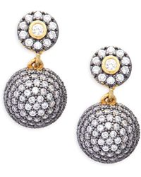 Freida Rothman - Crystal Paisley Bindhi Drop Earrings - Lyst