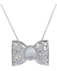 Pasquale Bruni - 18k 3.20 Ct. Tw. Diamond & Topaz Necklace - Lyst