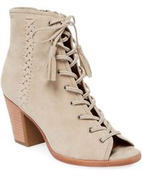 Frye - Dani Whipstitch Lace Leather Bootie - Lyst