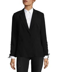 Saks Fifth Avenue Black | Lace-up Blazer | Lyst