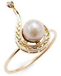 Estate Fine Jewelry - Victorian Conversion Ring - Question Mark - Lyst