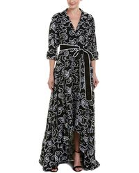 Alexis Wrap Gown - Black