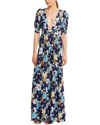 61a603e15cf7 For Love & Lemons For Love & Lemons Rosalyn Spot Panel Maxi Dress in ...