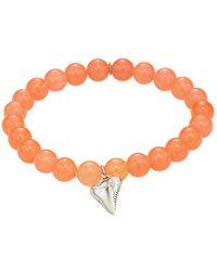 Anzie - Boheme Jade & Hanging Shark Tooth Bracelet - Lyst
