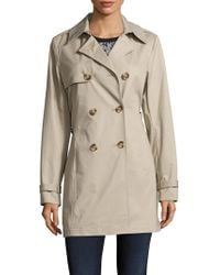 T Tahari Outerwear - Cotton Eyelet Lace Trench Coat - Lyst