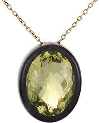 Roberto Coin 18k Rose Gold Quartz Necklace