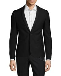 The Kooples - Micro Pattern Wool Suit Blazer - Lyst
