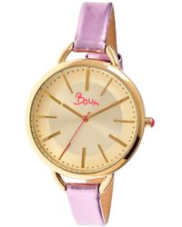 Boum - Women's Champagne Watch - Lyst