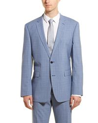 Vince Camuto - Medium Blue Plaid Slim Fit 2-piece Suit - Lyst