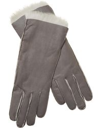 Maison Fabre - Leather & Rabbit Fur Gloves - Lyst