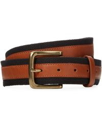 Fred Perry - Webbing Leather Belt - Lyst