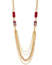 Rebecca Minkoff - Catalina Seed Bead Layer Necklace - Lyst