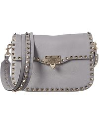 Valentino - Rockstud Leather Shoulder Bag - Lyst