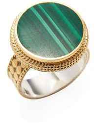 Anna Beck Jewelry Malachite Circle Ring