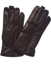 Portolano - Men's Black Cashmere-lined Leather Gloves - Lyst