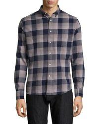 Slate & Stone - Cotton Plaid Sportshirt - Lyst