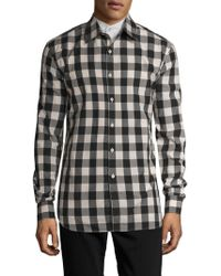 Balmain - Checked Cotton Shirt - Lyst