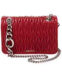 33010df8862f Miu Miu - Club Matelassé Leather Shoulder Bag - Lyst