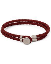 Canali - Stainless Steel & Leather Bracelet - Lyst
