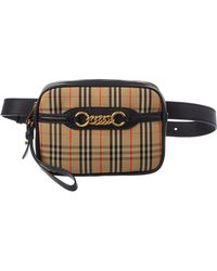 Burberry - 1983 Check Link & Leather Belt Bag - Lyst