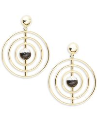 Noir Jewelry - Orbital Drop Earrings - Lyst