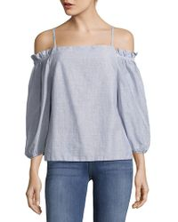 The Vanity Room | Plain Off-the-shoulder Cotton Top | Lyst