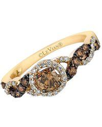 Le Vian - Chocolatier® Chocolate & Vanilla Diamond® And 14k Honey Gold Ring - Lyst