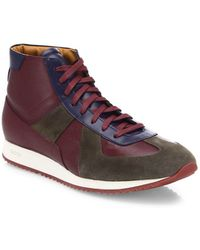 Facto - Leather Lace-up High-top Sneakers - Lyst