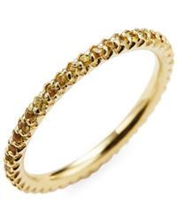 Roberto Coin - 18k Yellow Gold Yellow Sapphire Pave Ring - Lyst