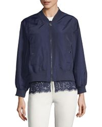 Laundry by Shelli Segal - Lace-trim Bomber Jacket - Lyst