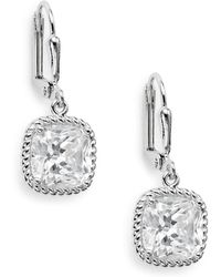 Saks Fifth Avenue - Square Drop Earrings - Lyst