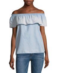 Soft Joie - Vilma Bandeau Cotton Top - Lyst