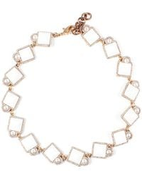 Lulu Frost Mary Riviera Plated Crystal Necklace