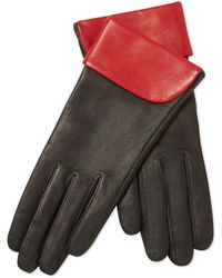 Maison Fabre - Colorblock Lambskin Leather Gloves - Lyst