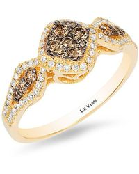 Le Vian - Chocolatier® Honey Goldtm Chocolate & Vanilla Diamond® Geometric Ring - Lyst