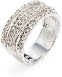 Rina Limor - Diamond Criss Cross Ring - Lyst