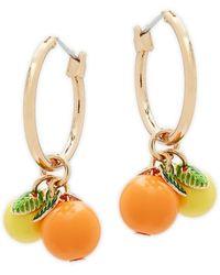 Natasha Couture - Fruit Hoop Earrings - Lyst