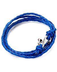 """Mateo Bijoux - """"nail Wrap"""" Rhodium Over Silver & Leather Quadruple Wrap Bracelet - Lyst"""