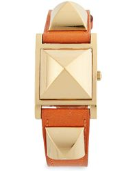 Hermès - Vintage Orange/gold Swift Medor Watch - Lyst
