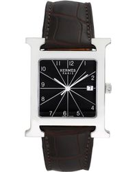 Hermès - Vintage Hermes H Stainless Steel Watch, 42mm - Lyst