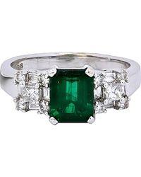 Diana M. Jewels - . Fine Jewelry 18k 2.02 Ct. Tw. Diamond & Emerald Ring - Lyst