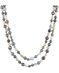 Splendid - 8-11mm South Sea & Tahitian Pearl Endless Necklace - Lyst