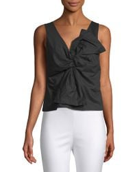 Lea & Viola - Knotted Sleeveless Cotton Top - Lyst