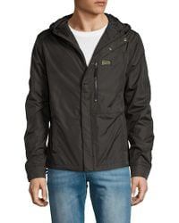 Michael Stars - Hooded Snap Front Jacket - Lyst