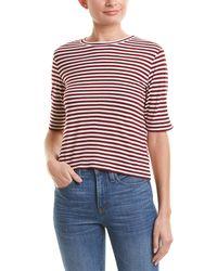 Vince - Striped Silk-blend Crop Top - Lyst