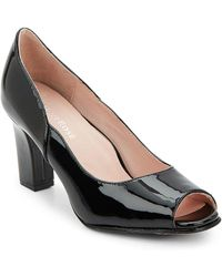 Taryn Rose - Freddy Patent Leather Peep Toe Court Shoes - Lyst
