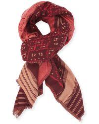 Antik Batik | Embroidered Cotton Scarf | Lyst