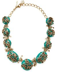 Oscar de la Renta - Filigree Necklace - Lyst